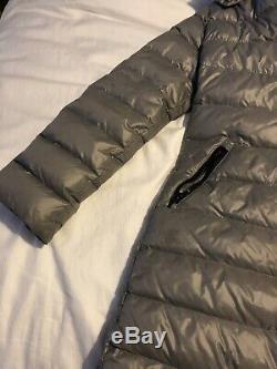 Moncler Coat Womens Mocha Grey Long 8- 10 Teenagers Down Genuine VGC