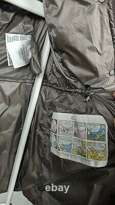 Moncler Hermifur Women Long Coat Padded Parka Jacket Size 0 XS Fur Hood Hermine