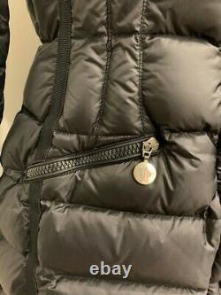 Moncler Hermine Women Long Coat Jacket Hooded Winter Size 2 or S M Padded
