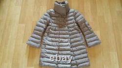 Moncler Johanna Gray Down Puffer Long Coat Jacket Size 1, S