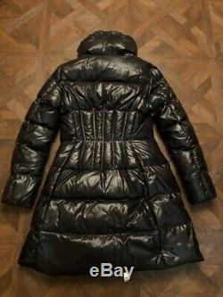 Moncler Joinville Woman Long Down Padded Coat Jacket Winter Size 2 Black