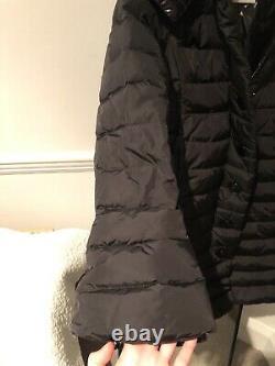 Moncler Long Black Puffer Coat Women Size 8 (Moncler Size 0)