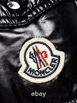 Moncler MOKA Long Down Puffer Coat Black Jacket Size 0 XS