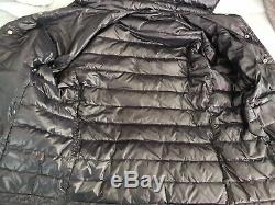 Moncler Men's Dark Blue Long Sleeve Down Quilted Puffer Coat Jacket Size M