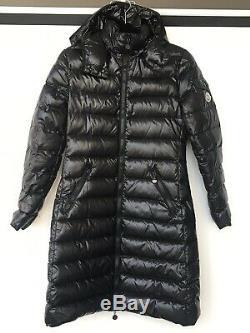 Moncler Moka Lacquer Size 0/XS Black Long Puffer Down Jacket Coat