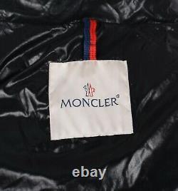 Moncler Moka Womens Black Hooded Shiny Long Down Jacket Coat Size 2