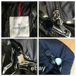 Moncler Mokacine womens down Long Coat in Navy Size 4