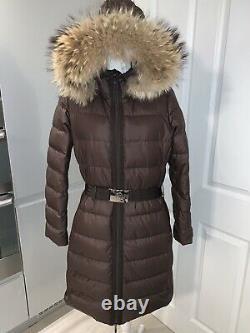 Moncler Nantesfur, Hooded, Belted Jacket/ Coat, Size 3, 12-14 UK, M, Genuine