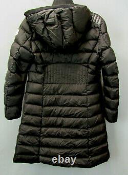 Moncler Talev Long Leather-Trim Puffer Coat MSRP $1810 Size 1/S # 8B 1298 Blm
