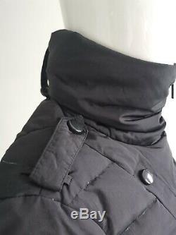 Moncler Women Black Long Sleeve Knee Length Down Puffer Jacket Coat Size 4 UK16