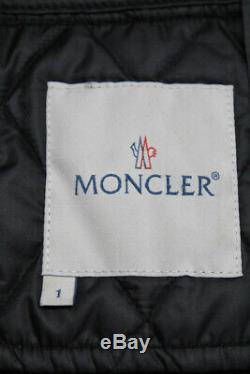 Moncler Womens Casual Quilted Long Sleeve Zip Up Jacket Coat Black Size 1