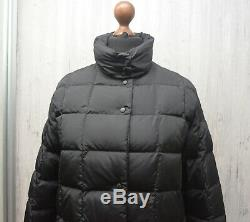 Moncler Womens Down Puffer Quilted Black Jacket Size 1 / S Long Coat VGC