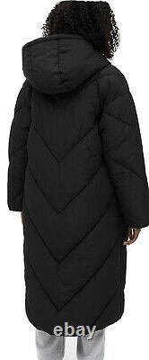 Monki Padded Puffer Coat Long Black Size Small BNWT Sold Out