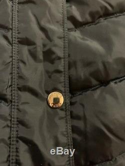 NAVY BLUE NEW MICHAEL KORS $400 FAUX FUR TRIM LONG MAXI DOWN PUFFER COAT medium
