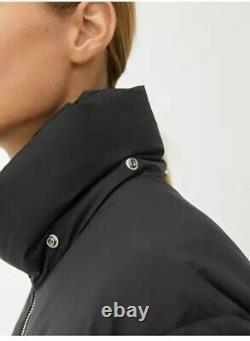 NEW ARKET Black MEDIUM Long Down Puffer Coat Water Repellent