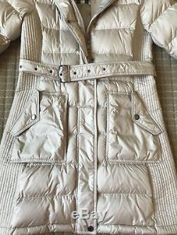 NEW Burberry Women's Down Belted Long Winter Coat Puffer Jacket Size Medium M