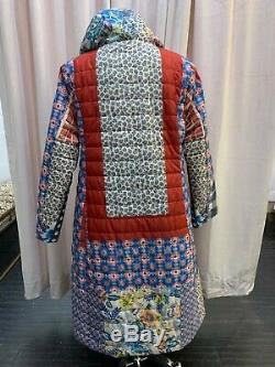 NEW JOHNNY WAS Reversible JACKET COAT Jacket Long Puffer Large Hood