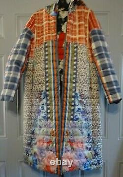 NEW JOHNNY WAS Reversible JACKET COAT Long Puffer Small