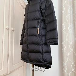 NEW The North Face Metropolis III 550 Down Long Quilt Coat Parka Black Size S