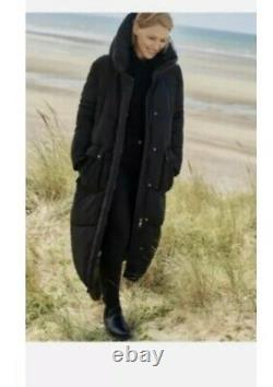 NEXT Black Emma Willis Padded Puffer Duvet Quilted Coat Jacket Size 14