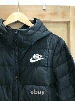 NIKE WINTER coat JACKET DOWN FILL size M 12 14 BLACK long bnwt