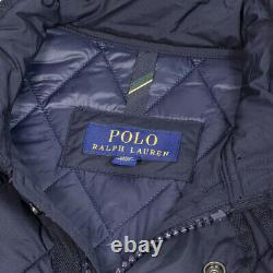 NWT $368 Polo Ralph Lauren The Iconic Quilted Coat Car Men's Navy Barn Jacket L
