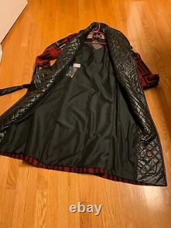 NWT $500 Pendleton Womens Long Coat Quilted Collar& Belt Southwestern Sz Medium