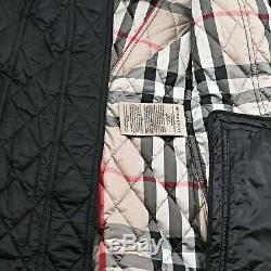 NWT Authentic Burberry Long Finsbridge Belted Quilted Removable Hood Jacket XXL