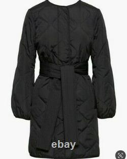 NWT Banana Republic Women's Black Quilted Puffer Belted Long Coat Jacket $328