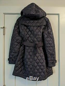 NWT Burberry Finsbridge Long Quilted Navy Ink Jacket XL Authentic
