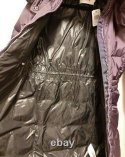 NWT COACH ICON GOOSE DOWN LONG Puffer Jacket Coat Eggplant Original $650 Sz XS