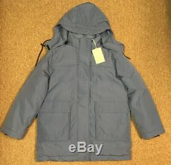 NWT Everlane ReNew Long Puffer Jacket Coat, Blue, M