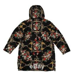 NWT GUCCI Black Padded Flowers And Tassels Cape Coat Size 42/M $4500