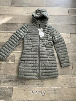 NWT Lululemon 6 Pack it Down Jacket Long Coat Size 6 Grey Sage Matte Finish $248