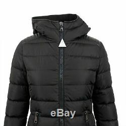 NWT MONCLER Black'Talev' Down Filled Long Puffer Coat Size 2/M