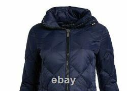 NWT Michael Kors Women's Down Coat Full Zip Packable Hooded MK Jacket Size Large