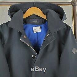 NWT SCOTCH & SODA Amsterdam Size XL Mens Navy Hooded Jacket Coat Parka $275