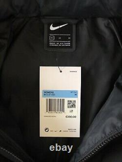 NWT Women Nike Down Fill Hooded Parka Jacket Puffer Coat Sz M Black