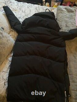 New Allsaints Womens Black Long Real Down Oversized Puffer Coat Size M (12)