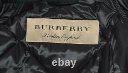 New Burberry Women's $990 Black MELMORE Diamond Quilted Long Coat Jacket XL