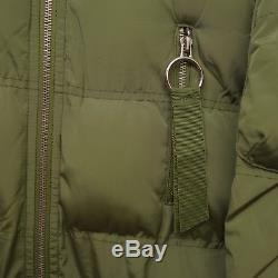 New Free People Olive Green Quilted Puffer Extra Long Warm Coat Size US Small