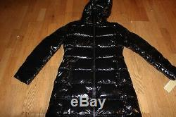 New Michael Kors Quilted Glossed Puffer Down Coat Black Xs Jacket $240