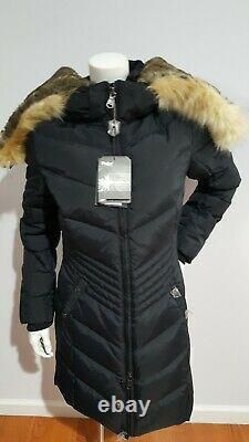 New Pajar Chance Down Black Puffer Jacket 550 Fill Power Women Size M