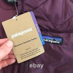 New Patagonia Womens Large L Radalie Insulated Long Parka Coat Purple $199