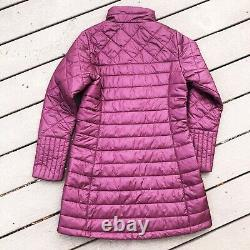 New Patagonia Womens Medium M Radalie Insulated Long Parka Coat Light Basalmic
