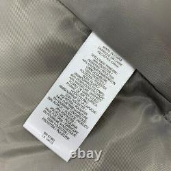 New Ralph Lauren womens long puffer jacket hooded faux Sz S silver x 352 X414