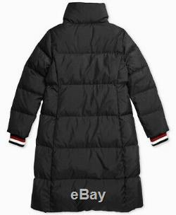 New TOMMY HILFIGER women's PETUNIA LONG PUFFER COAT sz XL black Quilted Jacket