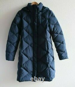 New The North Face Blue Miss Metro II Water Resistant Down Parka, Size Medium