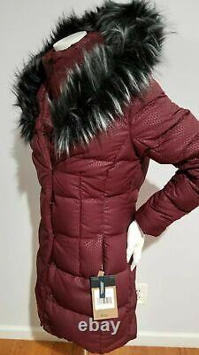 New The North Face Women's Fur Hooded Down Parkina Size M