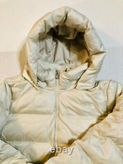 New The North Face Women's Metropolis III Parka Vintage White Size XL
